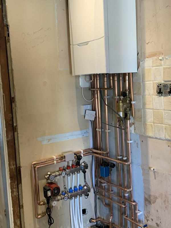 Image 1 - New boiler and underfloor heating installation.