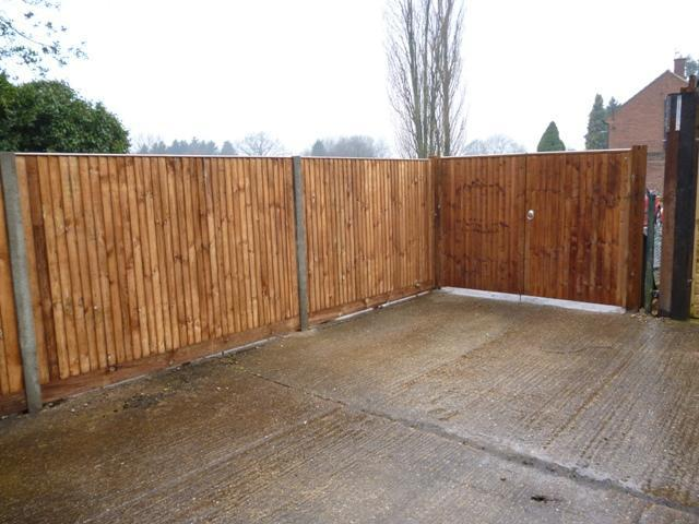 Image 11 - Closeboard fencing supported by concrete posts.