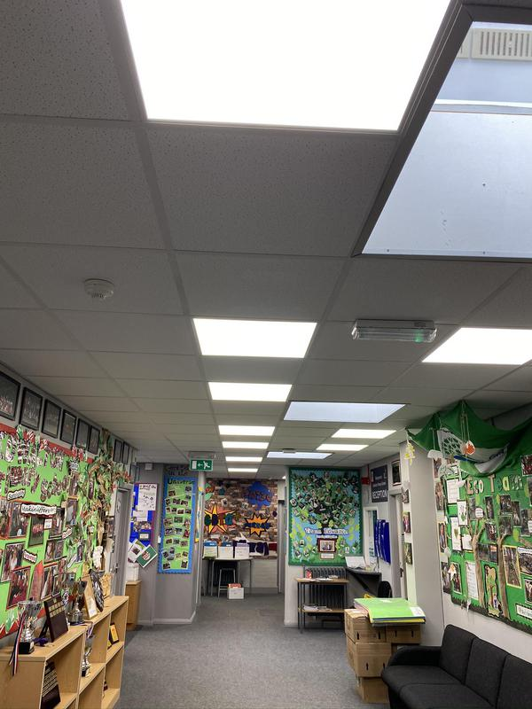 Image 23 - LED panels installed at a primary school. Saving on energy bills and looking so much more aesthetically pleasing