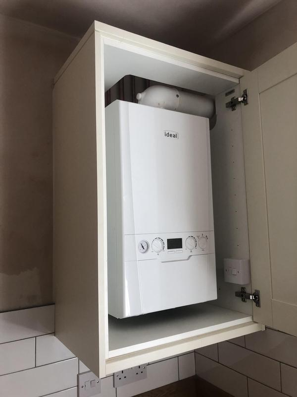 Image 27 - Neat Ideal Logic boiler in kitchen