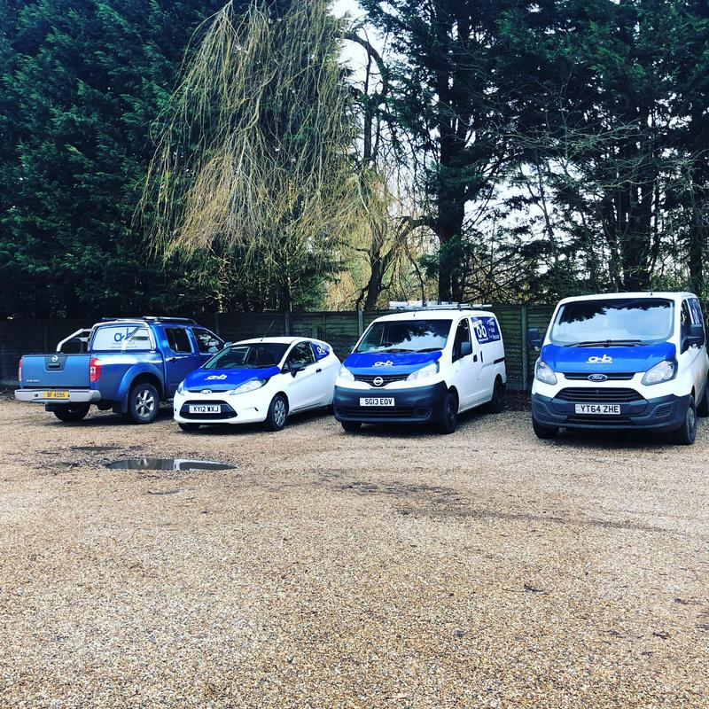 Image 7 - 4 out of 5 of our fleet parked up after a hard weeks graft.