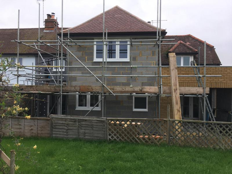 Image 1 - Half way through our double storey extension in Little Hadham