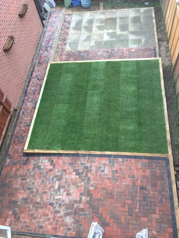 Image 20 - block paving and turfing
