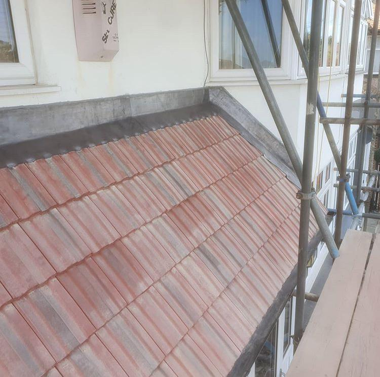 Image 19 - New lower porch roof after