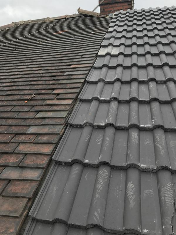 Image 28 - New roof, joining to old roof with hidden secret gutter
