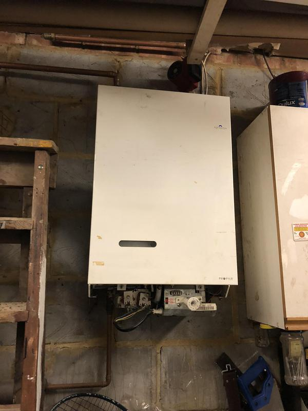 Image 22 - BEFORE. Welling job. Remove old heat only boiler
