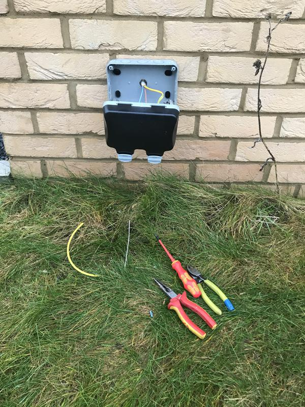 Image 9 - Install of new external double socket x 1