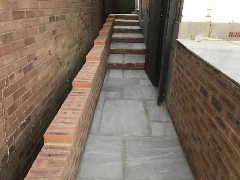 Image 24 - Site path with steps sandstone grey