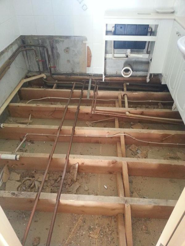 Image 80 - Bathroom floor tiling before & after