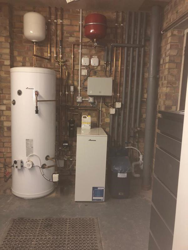 Image 36 - New Worcester Bosch boiler, Cylinder and water softener with Nest controls installed in Hail Weston, St Neots.