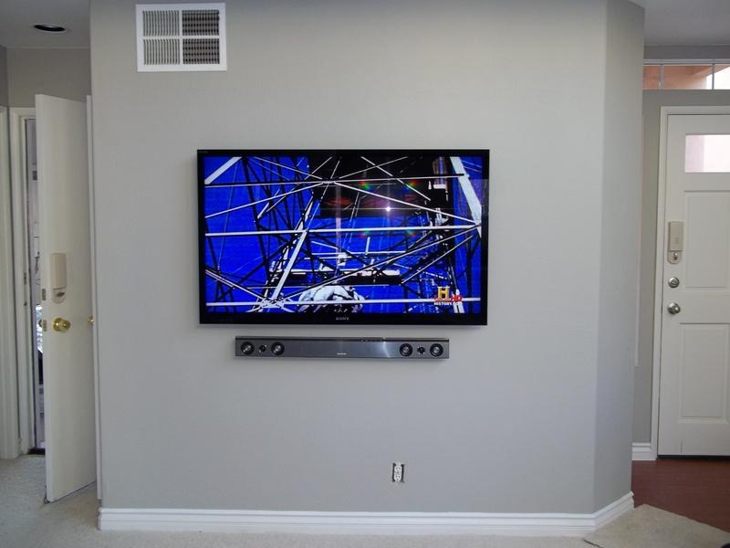 Image 4 - Wall mount TV and sound bar. Hide cabling in wall