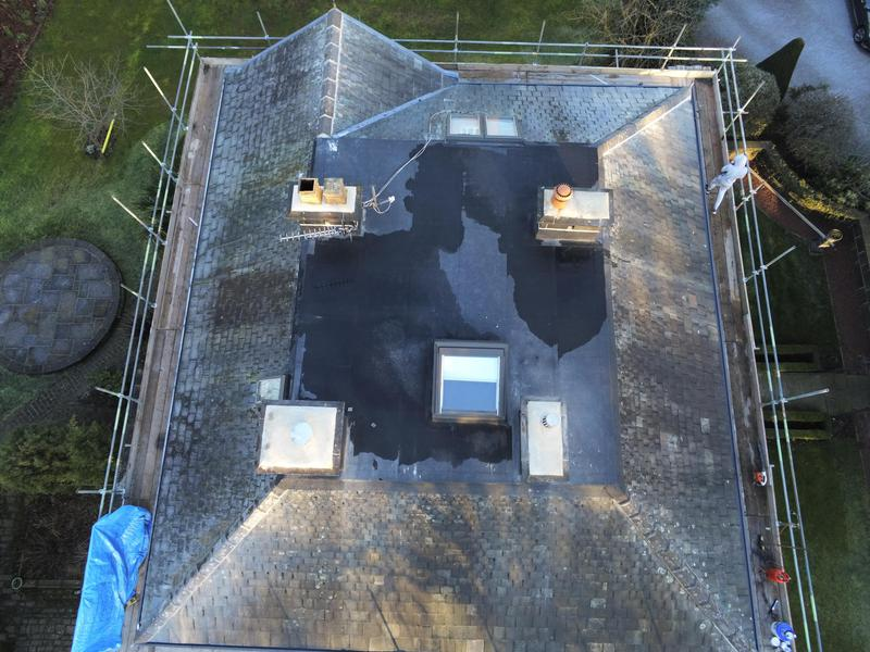 Image 13 - Flat roof refelted in 3 layer torch kn system and chimneys re pointed