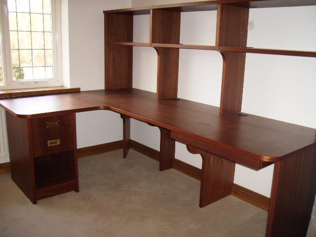 Image 41 - Sapele home office desk.