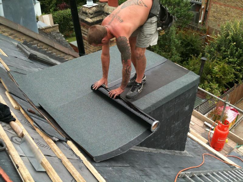 Image 11 - 3 layers of torch on felt on flat roof dormer