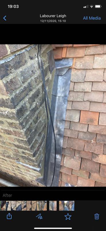 Image 7 - New flashing done around chimney