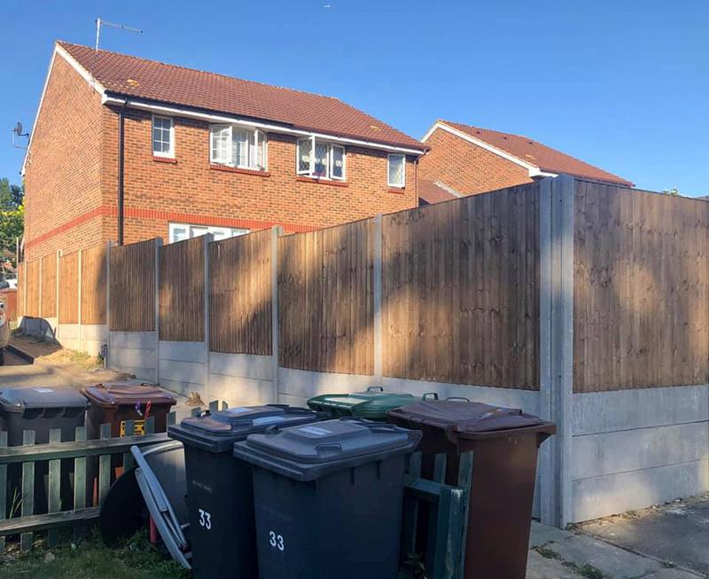 Image 27 - Close board fencing with concrete posts and gravel boards