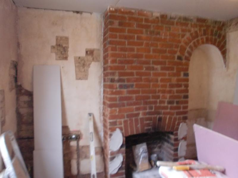 Image 44 - fireplace to be plasterboarded.
