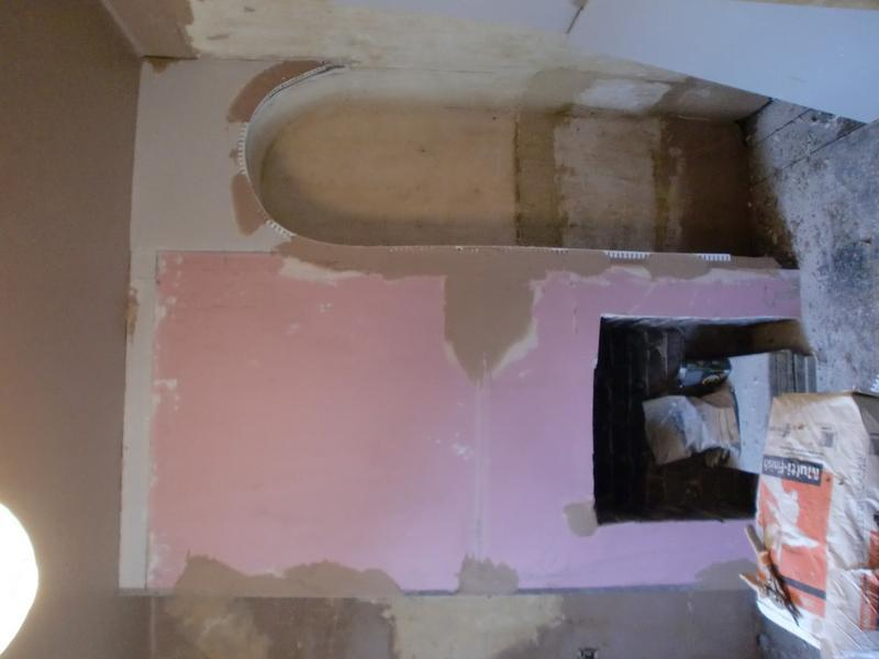 Image 47 - fireplace plasterboarded.