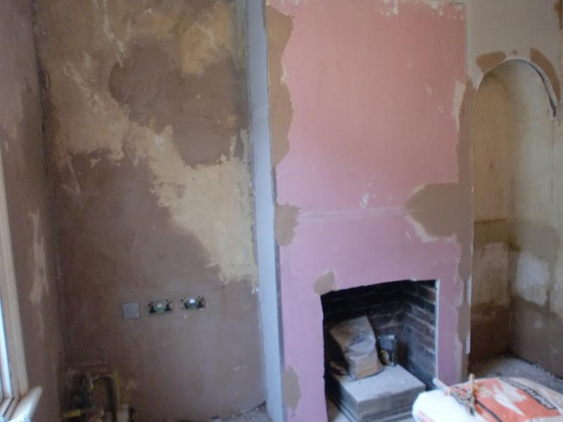 Image 25 - Fireplace plasterboarded