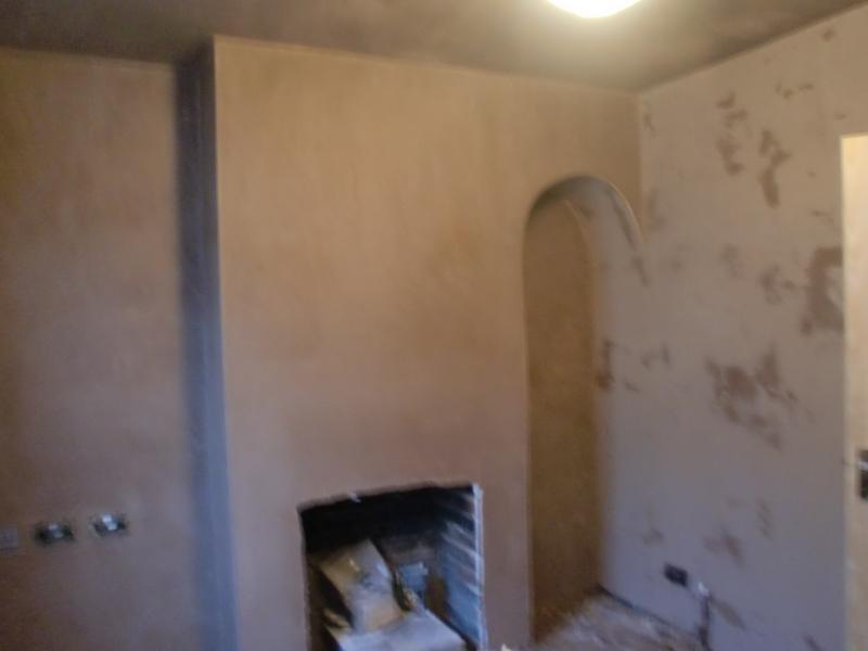 Image 26 - Fireplace plastered to finish i.e skimmed