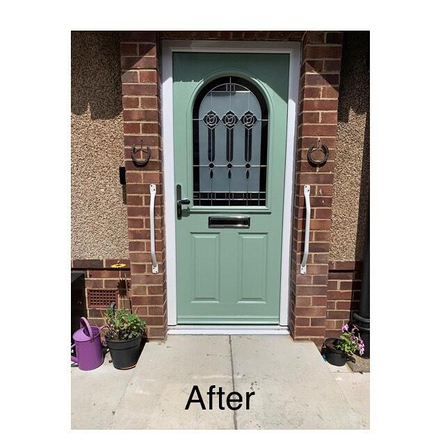 Image 8 - Here is the new door.  Our customer chose Chartwell Green, one of our most popular choices.