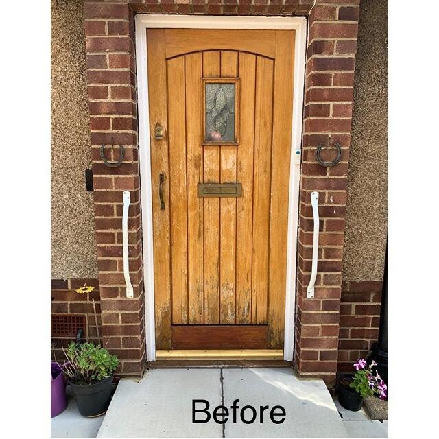 Image 7 - Before and after photos on a recent composite door installation
