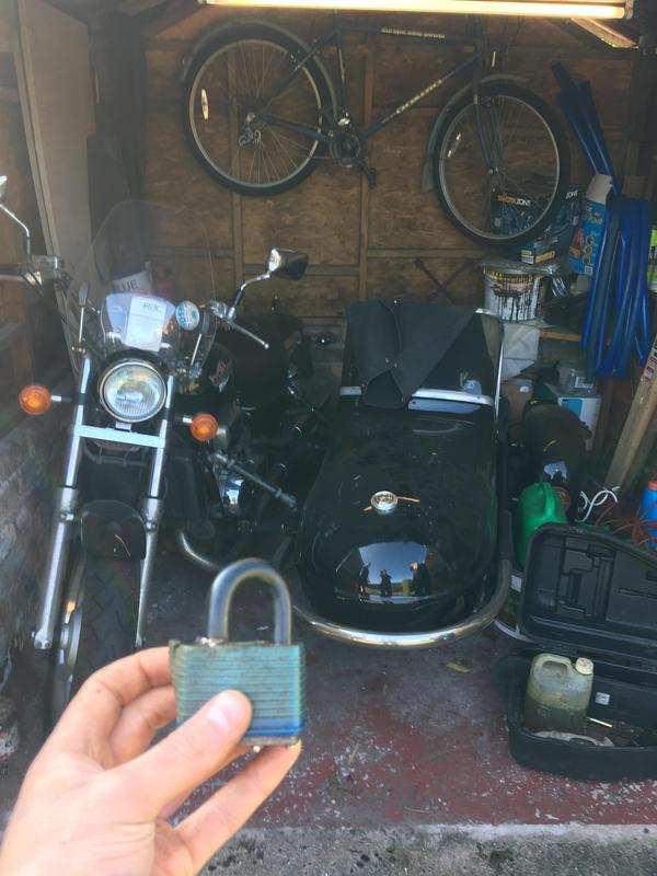 Image 44 - Padlock opened so customer can get back to working on his pride and joy