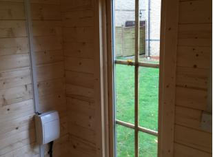 Image 18 - new electrics to office in garden