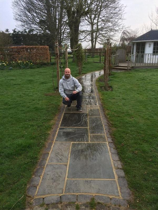 Image 22 - To take up indian stone path and relay and repoint to seal in folkestone