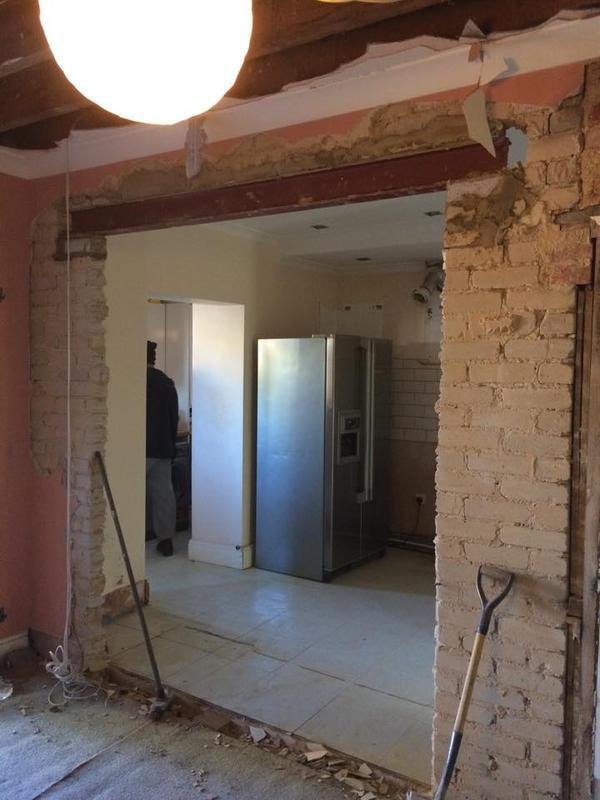 Image 23 - To take out wall and insert 3 meter ub steel beam in sidcup