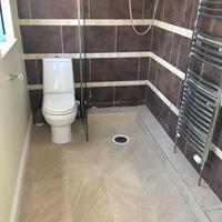 Image 14 - We love a wet room installation.