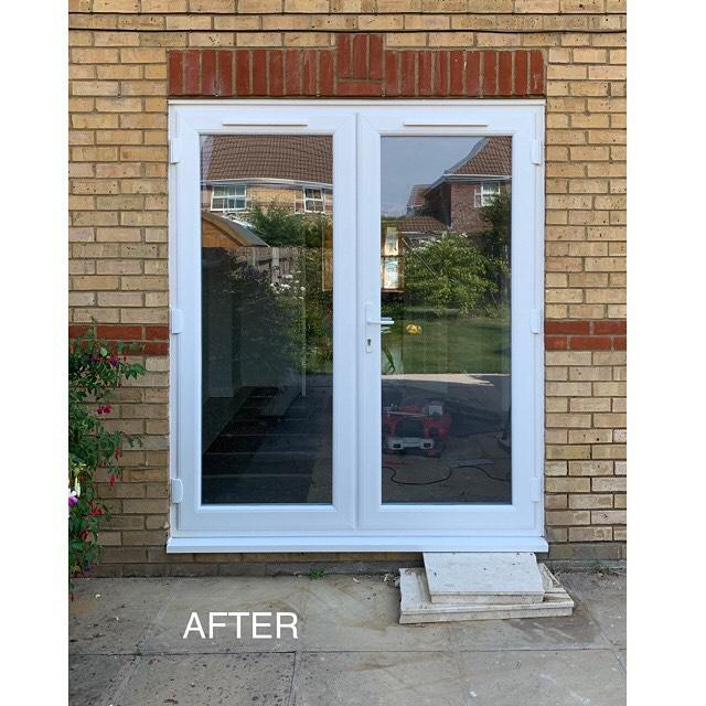 Image 5 - After.  Smart new French doors.