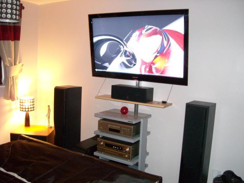 Image 7 - Wall mount tv and put cabling inside trunking