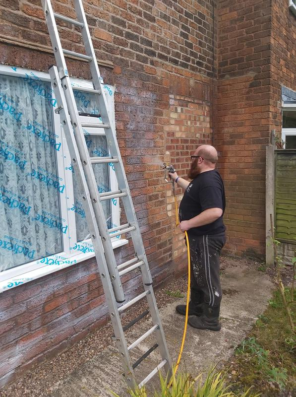 Image 3 - Storm Dry being applied to stop Penetrating Damp