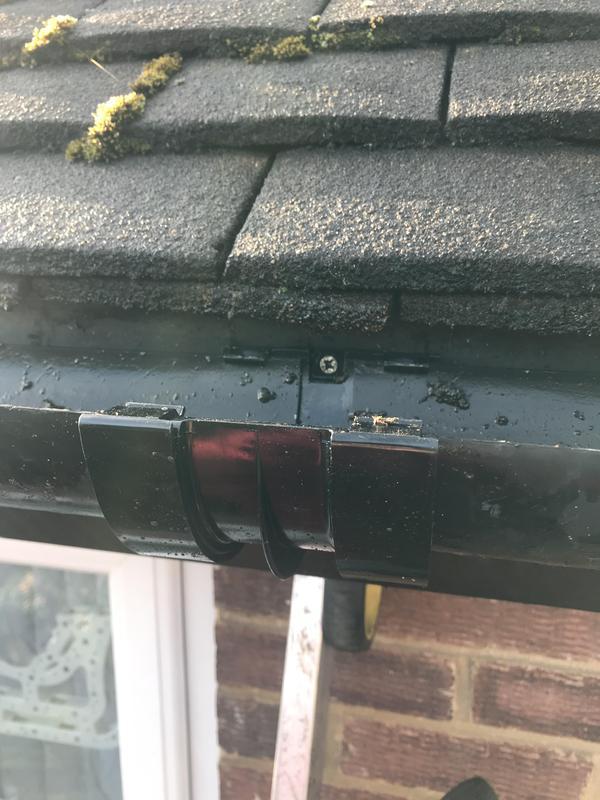 Image 14 - Renew broken gutter joint.