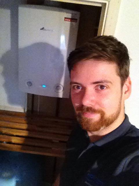 Image 20 - Martin with Worcester Boiler install