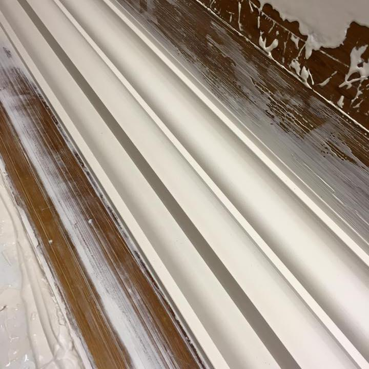 Image 17 - An insite to one of our bespoke match existing cornice drying just about to come off the bench into the dryer, Precision is key. Here you see how shary our moulds are filed and sanded otherwise the cornice would not be as razor sharp as this!