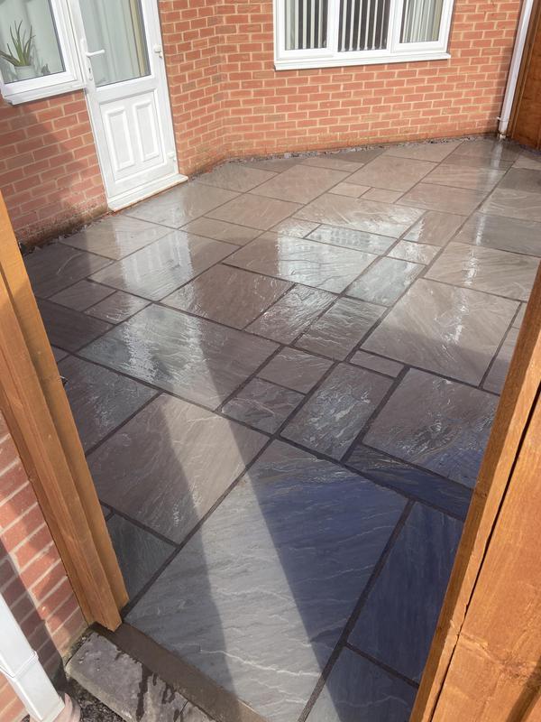 Image 2 - New patio nuneaton Indian sandstone grey multisize 2021