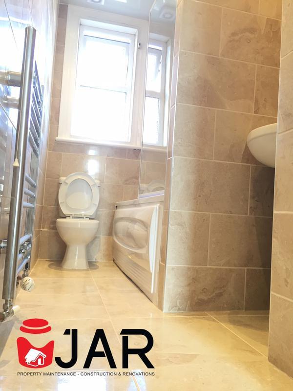 Image 13 - Ceramic travertine bathroom