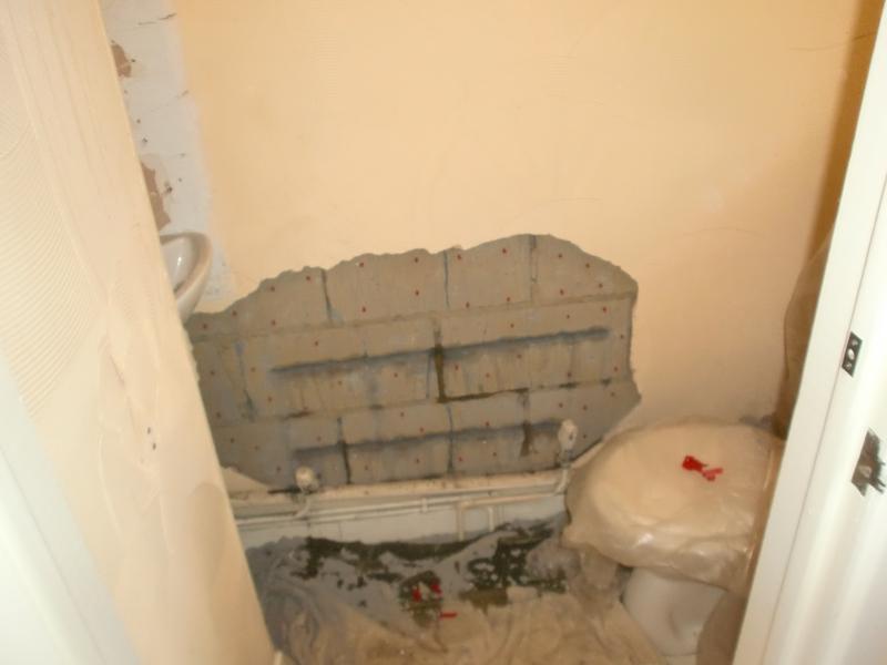 Image 8 - Downstairs toilet crack repairs