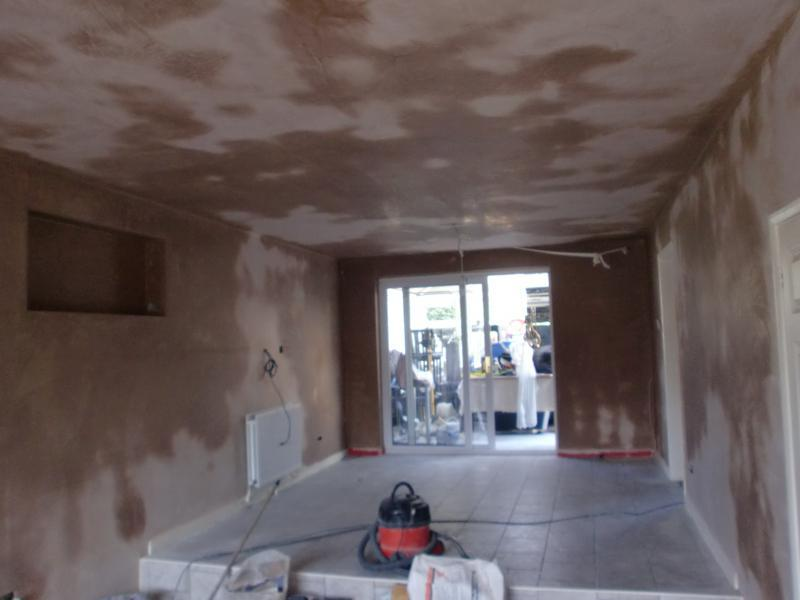 Image 41 - lounge now plastered to completion.