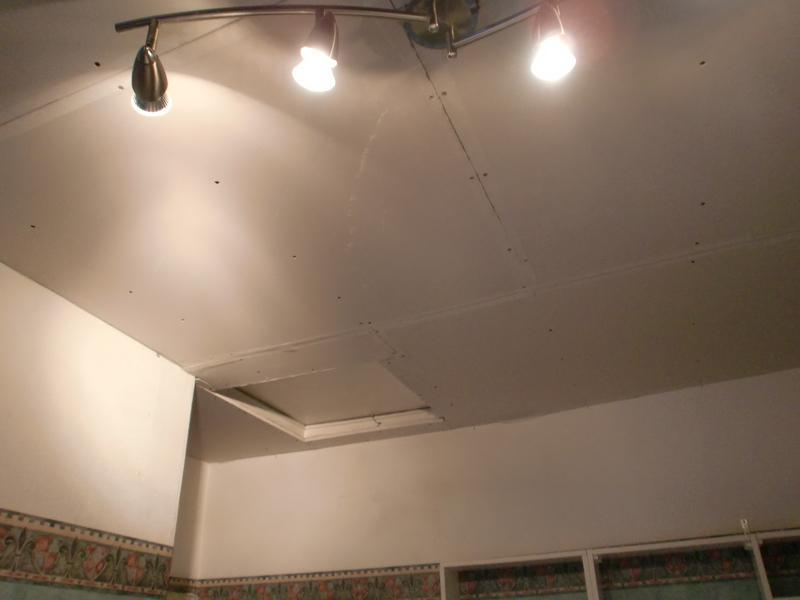 Image 35 - damaged ceiling overboarded.