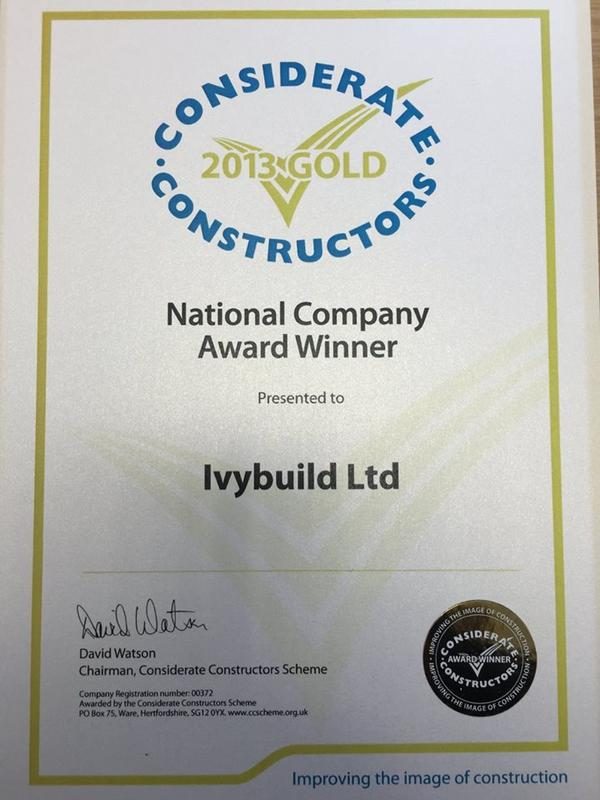 Image 2 - Considerate Constractors Gold Award