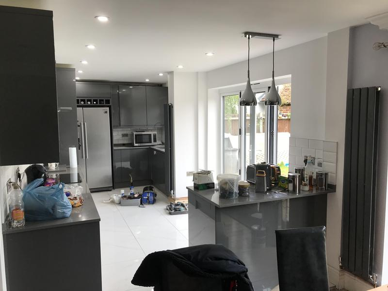 Image 20 - What a transformation. Bi-fold doors, new larger window to let in more light and a beautifuly new installed kitchen
