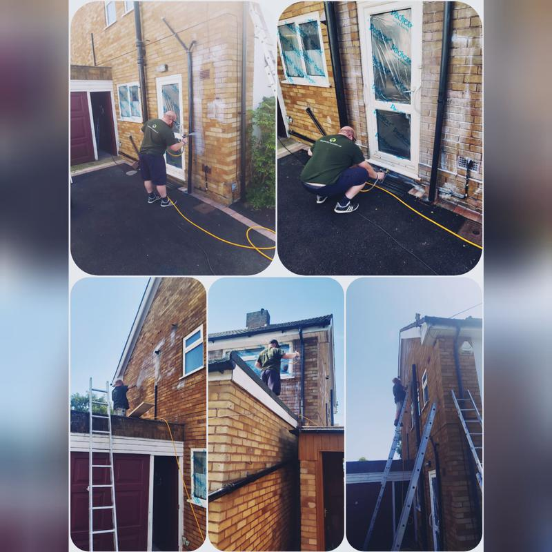 Image 1 - Storm Dry being applied to stop Penetrating Damp.