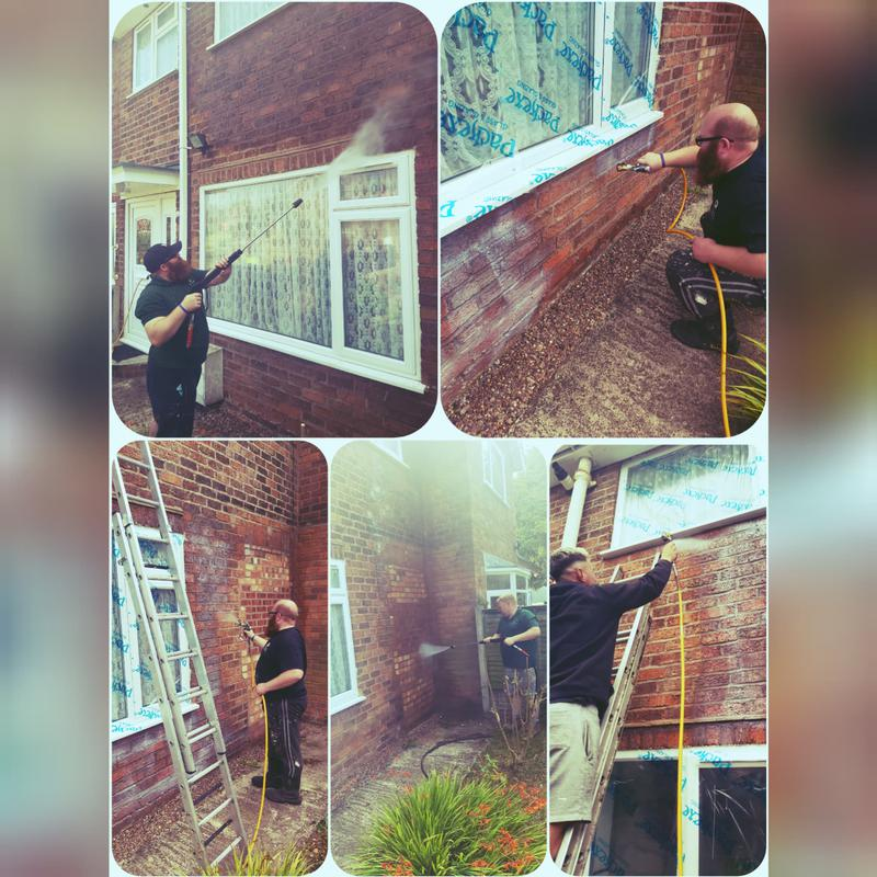 Image 6 - Storm Dry being applied to stop Penetrating Damp.