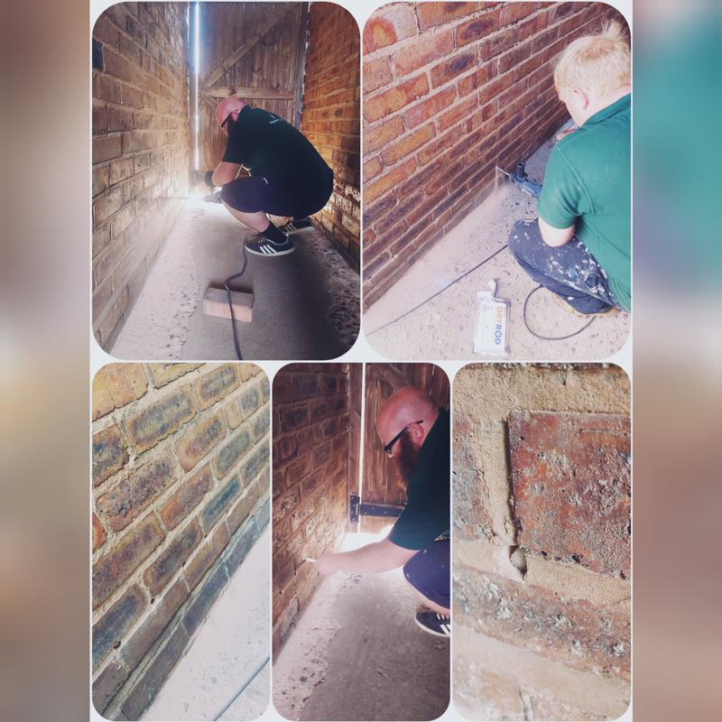 Image 8 - Dry Rod being installed to stop Rising Damp.