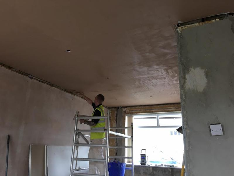 Image 18 - Plasterwork to a newly boarded ceiling done by us.
