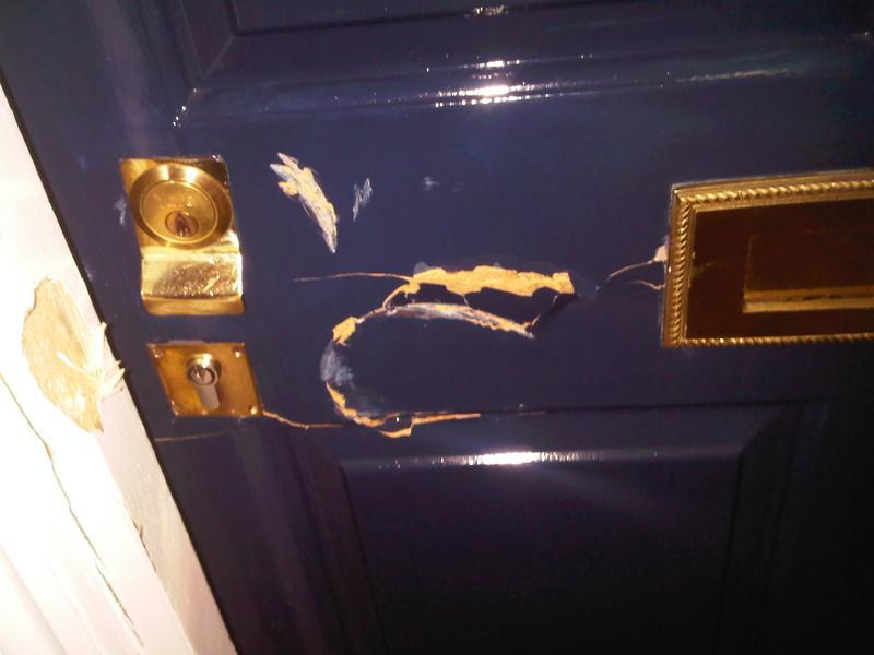 Image 19 - Burglary Damage,Repair To Frame & Hanging Of New Door