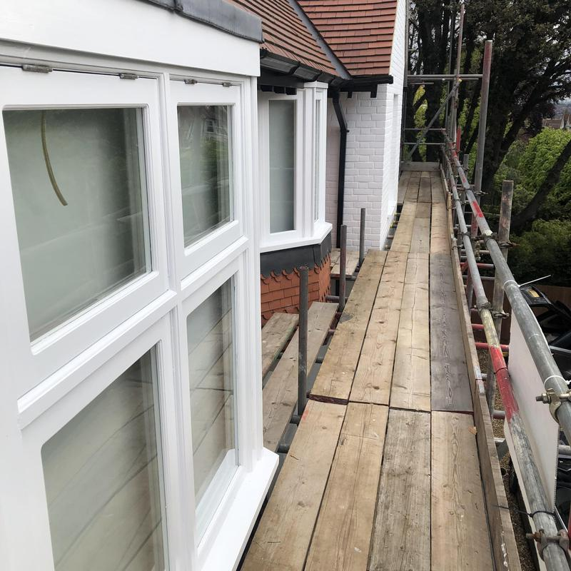 Image 27 - External Re decorations of large property in Wimbledon with repairs to windows etc carried out off scaffolding